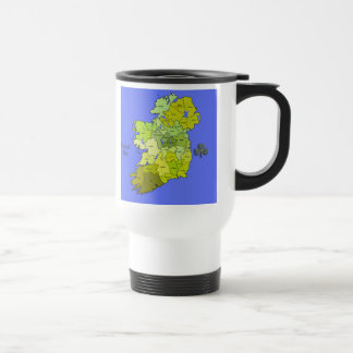 All Irish Map of Ireland Travel Mug