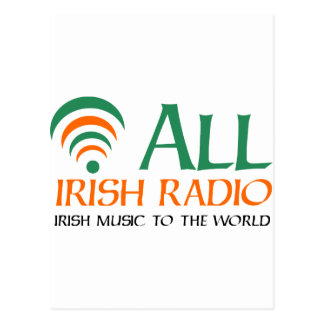 All Irish Radio New Logo Postcard