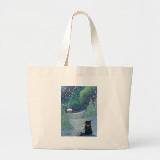 All is bright Border Collie dog Canvas Bag