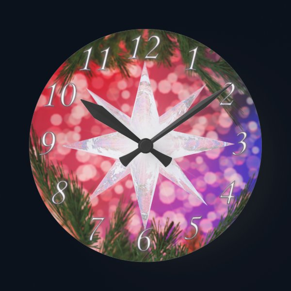 All Is Bright Christmas Clock