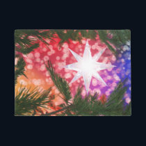 All Is Bright Christmas Doormat