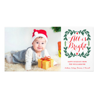 All is Bright Holiday Photo Card