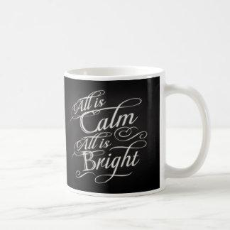 All is Calm, All is Bright Chalkboard Christmas Coffee Mug