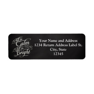 All is Calm, All is Bright Chalkboard Christmas Labels