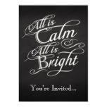 All is Calm, All is Bright Christmas Party Personalized Invites