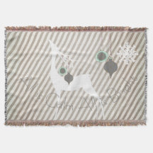 All is Calm All is Bright Deer Holiday Throw