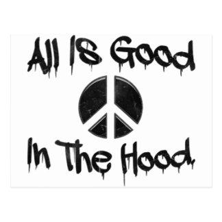 All Is Good In The Hood | U.S. Custom Ink Postcard