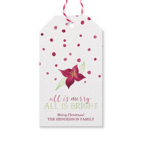 All Is Merry All Is Bright Christmas Tag Pack Of Gift Tags