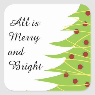All Is Merry and Bright, Christmas Tree Sticker