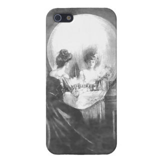 All is Vanity-Woman at Mirror or a Skull? Case For iPhone 5/5S
