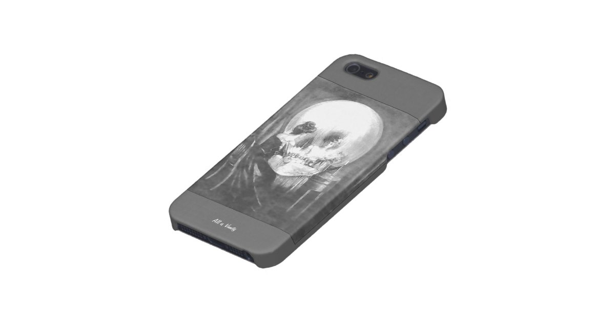 all is vanity woman looking at mirror or skull case for iphone se 5 5s zazzle. Black Bedroom Furniture Sets. Home Design Ideas