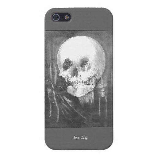 All is Vanity-Woman looking at Mirror? or Skull? iPhone 5 Case Zazzle