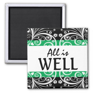 All is Well 3 word quote magnet
