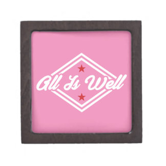 All Is Well Customizable Color White, Red And Pink Keepsake Box