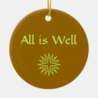 All is Well Holiday Ornament