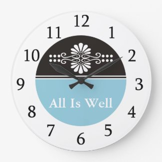 All is Well-Inspirational 3 Word Quote Clocks