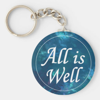 All is Well Inspirational Message Keychain