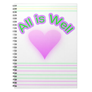All is Well spiral notebook