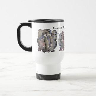 All is Wellephant 3 Cartoon Elephants 15 Oz Stainless Steel Travel Mug