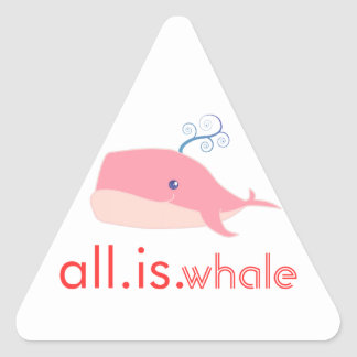 All is Whale (pink) Triangle Sticker