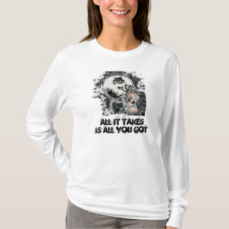 All it takes hooded tee shirt