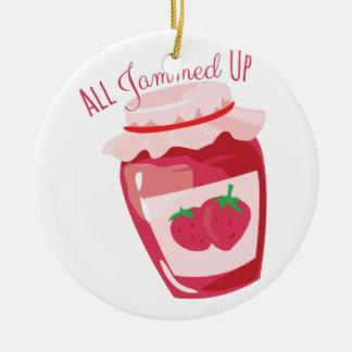 All Jammed Up Ceramic Ornament