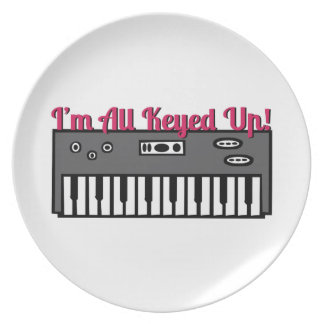 All Keyed Up Dinner Plate