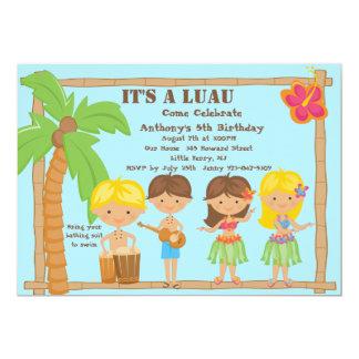 All Kids Luau Birthday Invitation