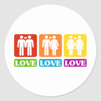 All Kinds Of Love Classic Round Sticker