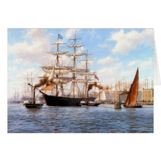 All kinds of ships card