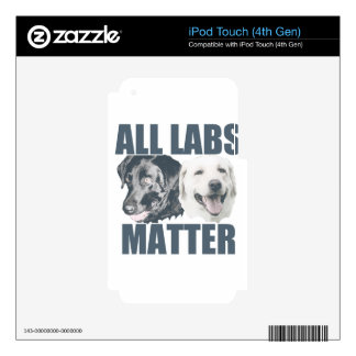 All labs matter iPod touch 4G skin
