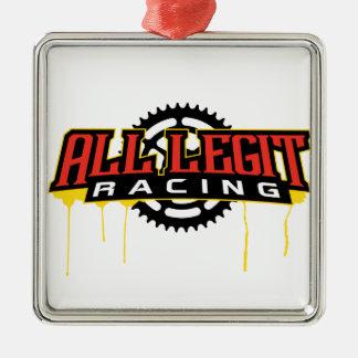 All Legit Plates Logo Metal Ornament