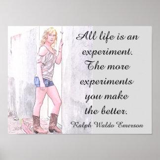 All Life - Ralph Waldo Emerson quote - art print