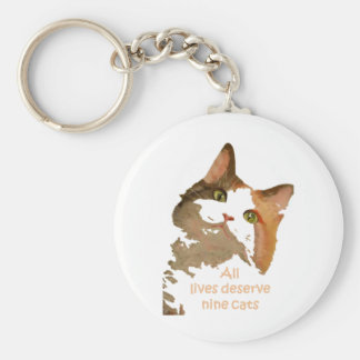 All lives Deserve Nine Cats Keychain