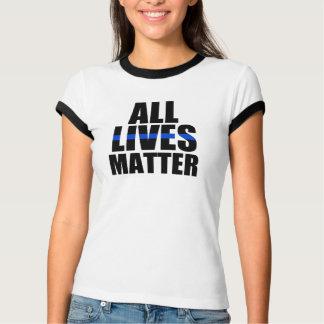 All Lives Matter Thin Blue Line Officer T-Shirt