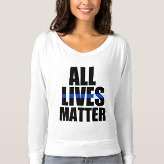 All Lives Matter Thin Blue Line women's T-shirt