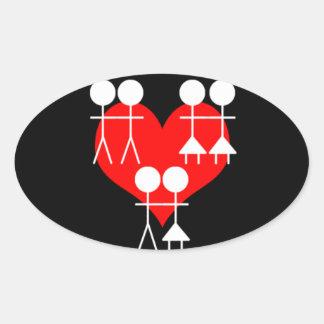 All Loves Oval Sticker