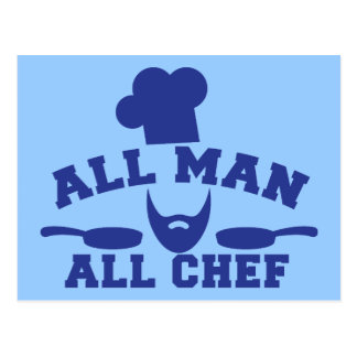 ALL MAN - all chef Postcards