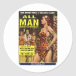 All Man, May 1959 Classic Round Sticker