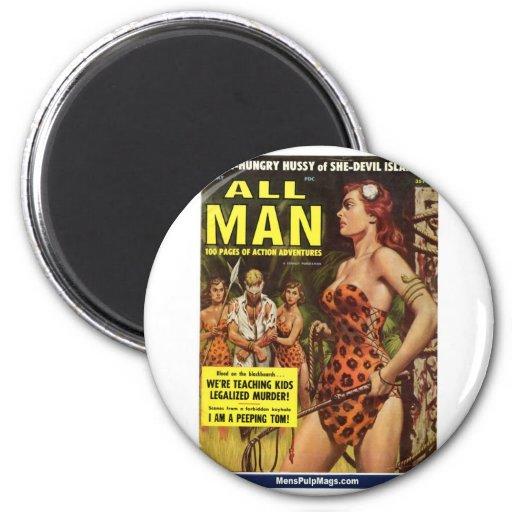 All Man, May 1959 Fridge Magnets