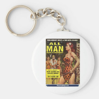 All Man, May 1959 Basic Round Button Keychain