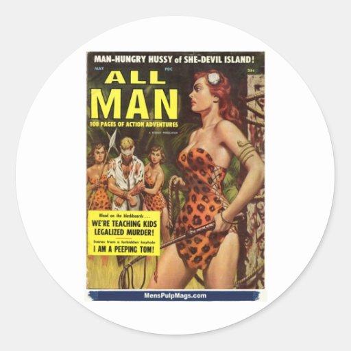 All Man, May 1959 Sticker