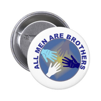 All Men Are Brothers Logo - 2 Inch Round Button