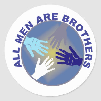 All Men Are Brothers Logo - Classic Round Sticker