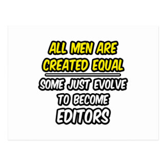 All Men Are Created Equal...Editors Postcard