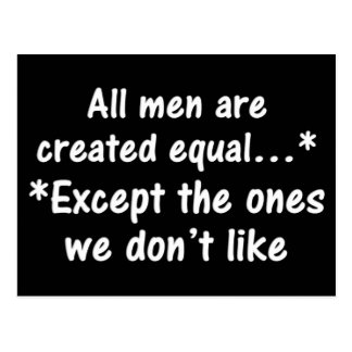 All men are created equal postcard