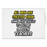 All Men Are Created Equal...Speech Teachers Cards