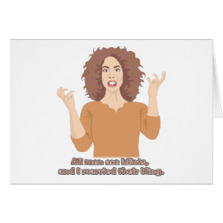 All Men Are Idiots and I Married Their King Stationery Note Card