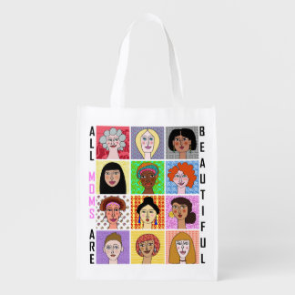 ALL MOMS ARE BEAUTIFUL GROCERY BAG