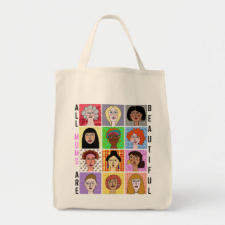 ALL MOMS ARE BEAUTIFUL TOTE BAG